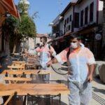 Kaleiçi, festival öncesi dezenfekte edildi