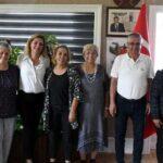 Toprak Ana Kooperatifi üyeleri Başkan Topaloğlunu ziyert etti